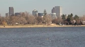 windy : A closeup pan of downtown from Sloans Lake.