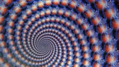 radial : Fractal Blue Globes Spiraling Animation Background. Perfect seamless loop background and special effect psychoactive footage in full color of rotational design and pattern that create a spinning optical illusion vortex that can have mesmerising hypnotic t Stock Footage