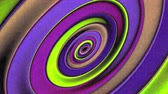 radial : Oblong Ellipses Spinning Geometry  Animation Background . Perfect seamless loop background and special effect psychoactive footage in full color of rotational design and pattern that create a spinning optical illusion vortex that can have mesmerising hypn
