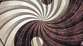 vintage : Yin Yang Spiral Eddy Animation Background . Perfect seamless loop background and special effect psychoactive footage in full color of rotational design and pattern that create a spinning optical illusion vortex that can have mesmerising hypnotic trance an