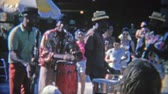 priceless : 1956: Caribbean street band playing for tips from the tourists. MIAMI, FLORIDA
