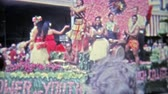 1971: Hawaiian flower of youth float during a downtown parade. HONOLULU, HAWAII