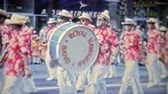 classic : 1971: Scenes from Hawaiian parade of floats and military men. HONOLULU, HAWAII