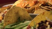 direito : Several tacos and quesadillas Stock Footage