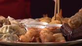 deep sea shrimps : Asian appetiser platter