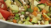 hotchpotches : Vegetable stew being quenched with stock