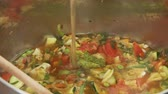ensopado : Vegetable stew being quenched with stock