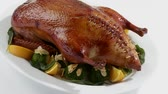meat free : Roast duck with broccoli and oranges