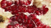 semente : Piece of pomegranate (close-up) Stock Footage
