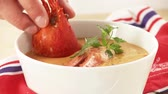appetiser : Cream of lobster soup