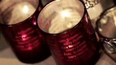 spirit : Christmas tealights Stock Footage