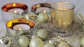 natal : Tealights and Christmas decorations