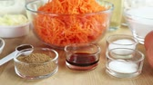 root vegetable dish : Ingredients for carrot cake (USA)