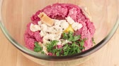 kneten : Meat Teig geknetet Stock Footage