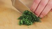 classic : Chopping parsley