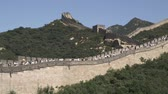 badaling : A panning wide shot of the Great Wall of China in the Badaling section.