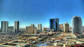 gündüz : Time-lapse static shot of Las Vegas cityscape. This was taken during the day.