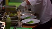 pirzola : Close up of chefs preparing food at a nice restaurant in Salt Lake City, UT