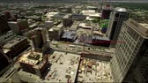 salt : Panning shot of the cityscape of Salt Lake, with the City Creek Center construction site directly below. Stock Footage