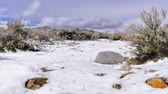 wintertime : Time-lapse of Utah valley as snow melts.