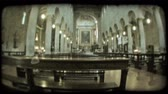Иисус : Wide angle lens shot of the interior of an Italian cathedral. Vintage stylized video clip.