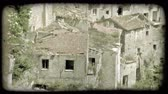 europa : Shot of some ruins in Italy. Vintage stylized video clip.