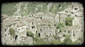 vintage : Shot of some ruins in Italy. Vintage stylized video clip.