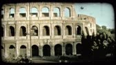 europa : Shot of the Colosseum in Rome. Vintage stylized video clip. Wideo