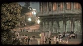 europa : Pan right of the Colosseum in Italy. Vintage stylized video clip. Wideo
