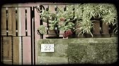 вещь : A lock down shot of an Italian house number. Vintage stylized video clip. Стоковые видеозаписи