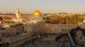 judaico : Dome of the Rock time-lapse from the Jewish Quarter at sunset. Cropped. Vídeos