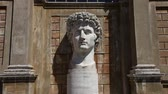 city : Colossal Head of Augustus in its alcove of the Cortile del Belvedere.