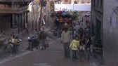 statue : Street traffic in Kathmandu in Nepal. Stock Footage