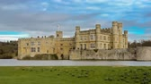 nobre : Time-lapse of historical Leeds Castle in Kent Stock Footage
