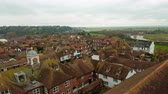 europa : Time-lapse of the rooftops of Rye East Sussex England. Stock Footage