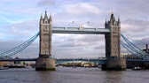 europa : Tower Bridge during the day in London England. Filmed on October 11 2011.