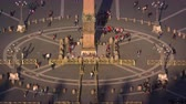база : Aerial footage of crowds around the obelisk in St. Peters square. Filmed in Rome,Italy on May 8,2012 Стоковые видеозаписи