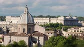 roof : Times-lapse of the Palace of Justice and San Giovanni dei Fiorentini. Shot in Rome,Italy Stock Footage