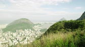 america : Day pan of Christ statue and Rio de Janeiro, Brazil. Stock Footage