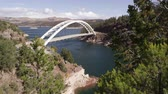 kordé : Static view of Cart Creek Bridge at Flaming Gorge in Utah.