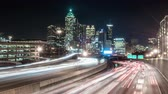 уличный свет : Timelapse of traffic at night in Atlanta.