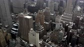 negócio : Static view looking down from rooftop to the buildings below in Manhattan. Stock Footage