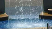 sheets : Water falling at a fountain in the Heckscher Playground in Central Park, New York City. Stock Footage