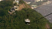 sério : Shot of gondola going down the mountain in Rio de Janeiro, Brazil Stock Footage