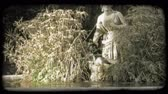 вещь : Shot of a fountain in Rome across a small pond. Vintage stylized video clip.