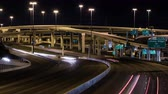 emaranhado : Nightime timelapse of a freeway system in San Antonio, Texas. Stock Footage