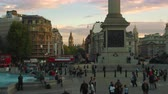 база : Beautiful shot from Trafalgar Square in London with Big Ben seen in the distance. The base of Nelsons Column and a fountain are also visible. Amazing color. Shot on October 7 2011.