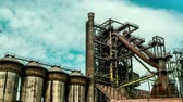 Old blast furnace in Dolni Vitkovice Ostrava Czech Republic 4K timelapse