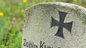camarada : Iron cross mark painted on old tombstone from WWI.