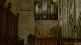 spirit : A medieval church organ in a gothic cathedral.